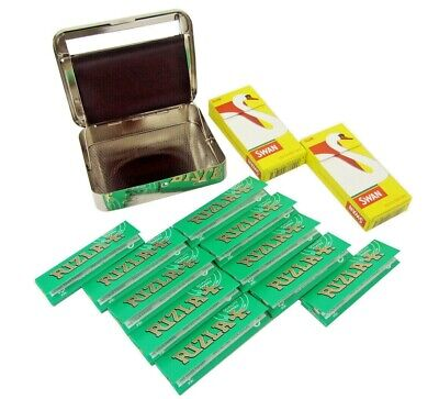 Automatic Rolling Machine Tin Swan Filter Tips Rizla Green Rolling Papers