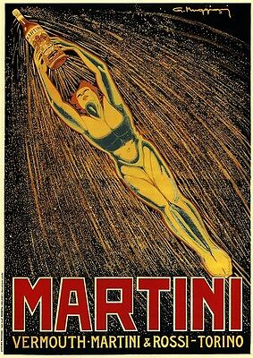 Martini 1921 - Italy Italian drink vintage old repro poster