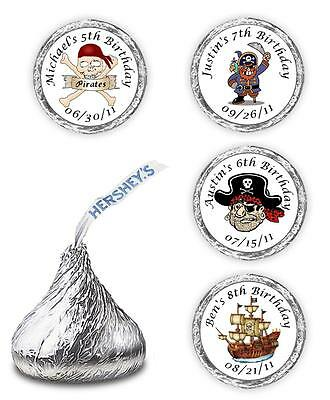 Pirate Birthday Party Hershey Kisses Favors Supplies Stickers Personalized Candy