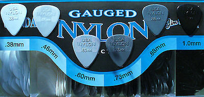 10 X Jim Dunlop Nylon Standard Guitar Picks / Plectrums (10 Picks)