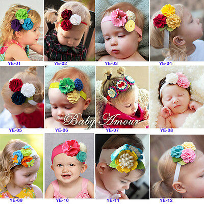 New Style Stunning Baby Amour Hair Headbands  Stereoscopic Flower Baby/ Girl