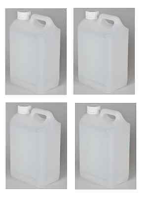 NEW 5 x 5 Litre 1 Gallon Plastic Jerry Can Water Container Carrier Bottle 5L PET