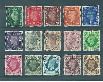 Gb - George V1 - 1937 - G668-  Definitives - 15 Values - Commercially  Used