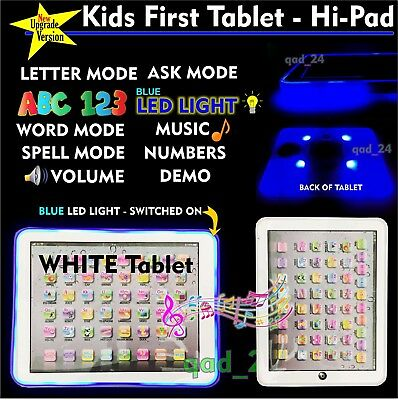 BLUE TABLET - My First Year Kids PAD Educational Toy Xmas Gift for Infants Child