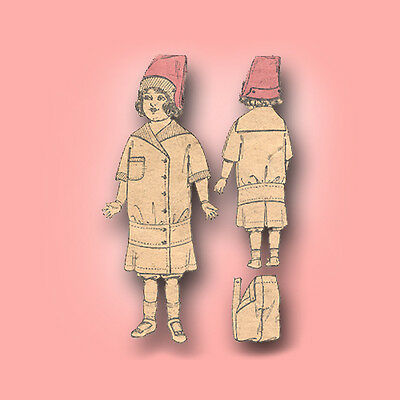 """Antique Doll Pattern 16"""" ~ Dress, Hat & Bloomers"""