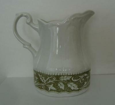 J&G Meakin Lucerne Green Sterling Colonial English Ironstone Creamer