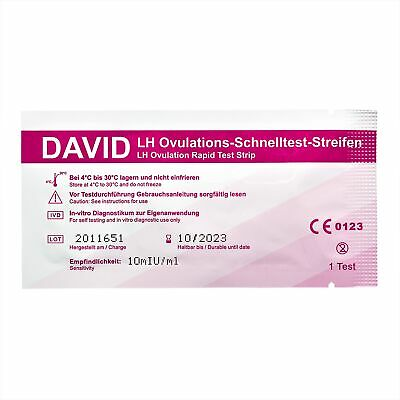 50 x David Ovulationstest Streifen nach Wahl LH ovulation test