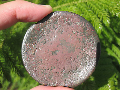 Genuine Medieval Islamic Bronze Convex Mirror with floral design, great patina,