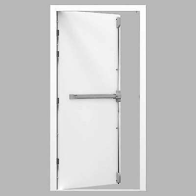 High Security Fire Exit Steel Door Set with 3 Point Panic Fire Exit Bar Fitted