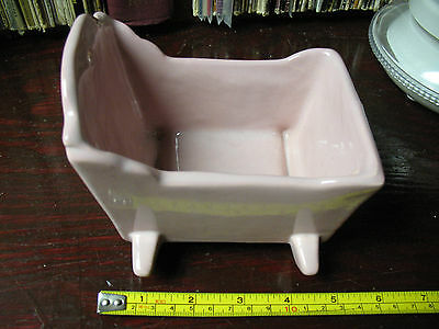 Haeger  Pink  Rocking  Cradle   Lovely  -  Immaculate !