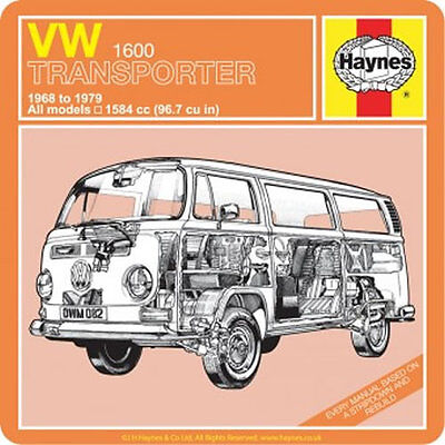 Officially Licensed Haynes VW Transporter 1968 to 1979 Individual Coaster