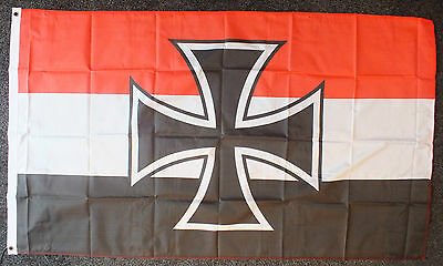 German WW1 Iron Cross Flag Imperial Navy 2nd Reich Deutchland 1914-1918 War bnip