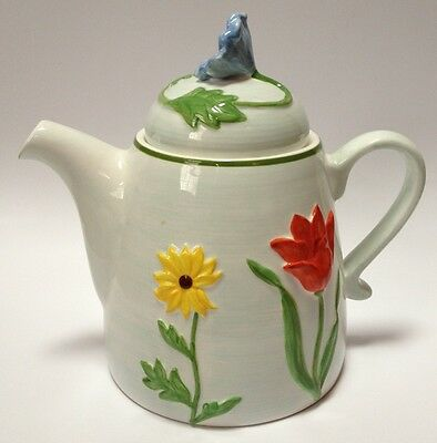 Block Basics China Handpicked Teapot Floral Flowers Spring Summer Garden