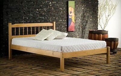 NEW 4ft small double 3/4 pine wood wooden spindle bed frame bedstead