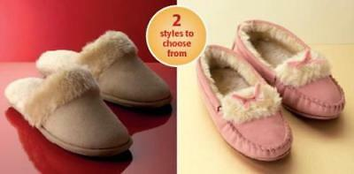 Ladies Teens Girls Kids Faux Suede Warm Moccasin & Mule Slippers Size 4-7