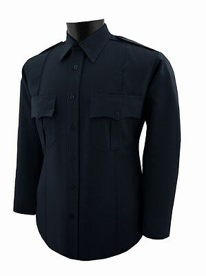 Navy blue security guard police polyester shirt Long Sleeve