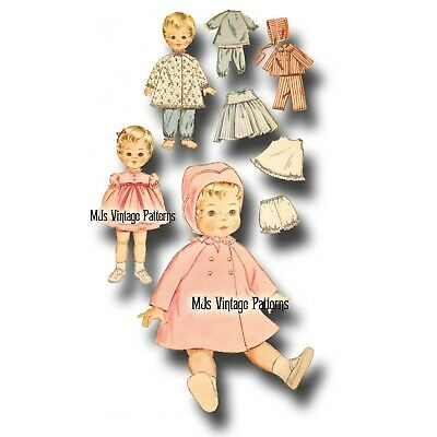 """Vtg Baby Doll Clothes Dress Pattern ~ 20"""" 21"""" Tiny Tears, Betsy Wetsy Toodles"""
