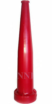 """1-1/2"""" NST x 10"""" STRAIGHT STREAM FIRE HOSE NOZZLE RED POLYCARBONATE"""