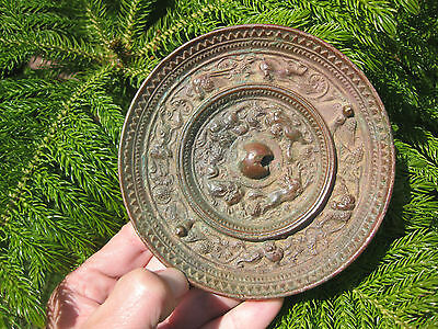 Antique Chinese convex bronze mirror- Suani, Birds & Grapes, 131mm, Tang Dynasty
