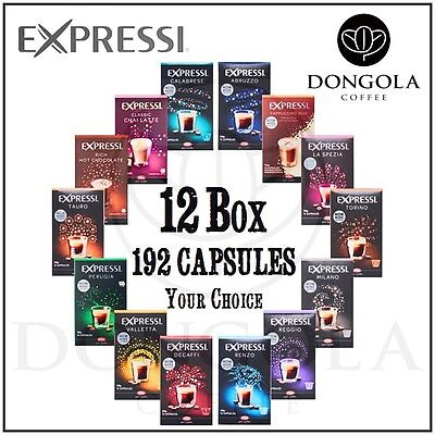 12 BOX (192) You Choose Expressi Automatic Coffee Machine Capsules Pods ALDI