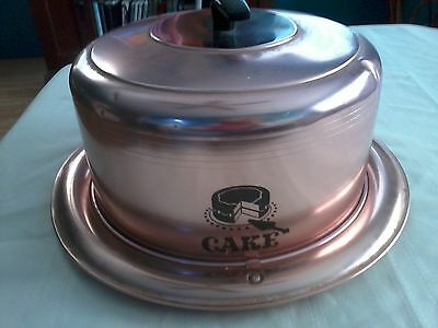 Vintge West Bend Aluminum Copper Colored Cake Pan Carrier.  Very Nice!