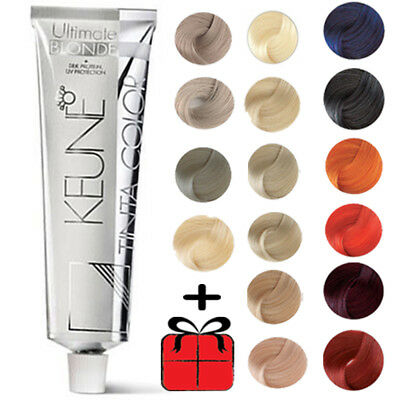 KEUNE Tinta Color Permanent Hair COLOR BLONDE & MIX COLORS 60ml Tube + GIFT