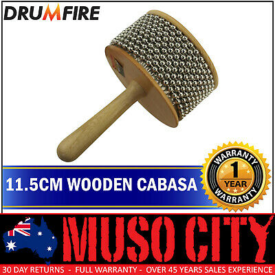 "New Drumfire 11.5"" Wood Cabasa Hand Percussion"