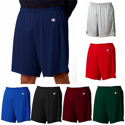 "CHAMPION Basketball Gym Athletic Adult Long Poly-Mesh 9"" Inseam Mens Shorts"
