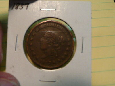Hard Times Token  1837 - Not One Cent
