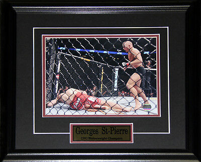 Georges St-Pierre UFC Signed 8x10 frame