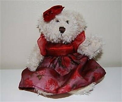 """""""Claudette"""" Plush Stuffed Bear by the Russ Berrie Collection"""