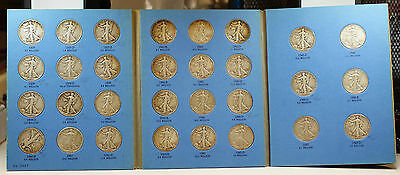 1937-47 Silver Walking Liberty Half Dollar Collection Set Whitman 9027 Folder