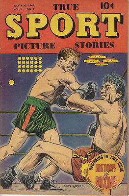 True Sport Picture Stories July-Aug 1949 Vol 5 No 2 - History of Boxing!