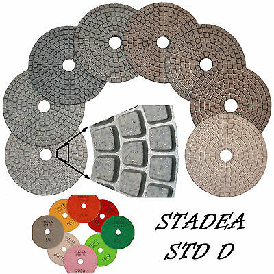 "STADEA 4"" Diamond Polishing Pad For Wet Polisher Stone Polish Grinding: Grit 50"
