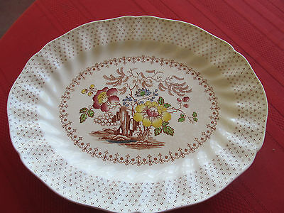 "ROYAL DOULTON :""GRANTHAM"" MADE IN ENGLAND OVAL SERVING PLATTER 11 1/8"""