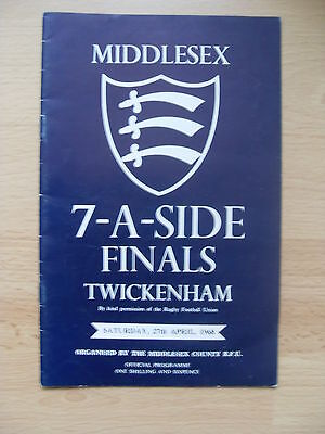 Middlesex Sevens 1968 Rugby Programme