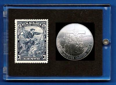 Jacques Cartier  1534  1934  Canada  Commemorative    Stamp & Coin Set