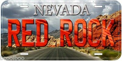 Red Rock Nevada Aluminum Novelty Car Auto License Plate