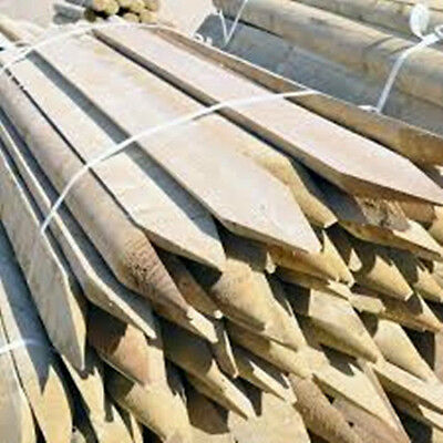 12 Half round wooden treated fence fencing posts 1.8M (6ft) tall 100mm (4'') Dia