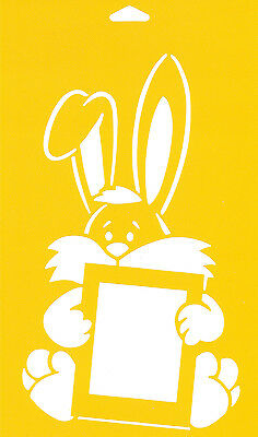 Stencil Cake Wall Airbrush Decorating Drawing Template Rabbit Bunny Photo Frame