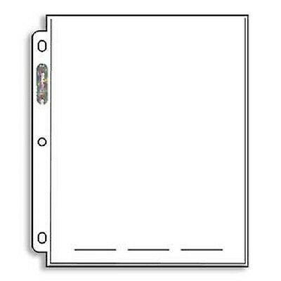 """(200) Ultra Pro PLATINUM 1 POCKET 8"""" x 10""""  Trading Card Coupon Album Pages"""