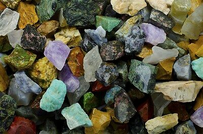 African Premium Mix - 3 Pounds of Tumble Rough Rocks and Stones for Tumbler