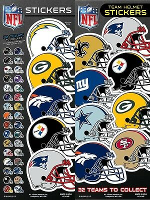 NFL Team Helmet Football Sticker, some teams are buy one get one free