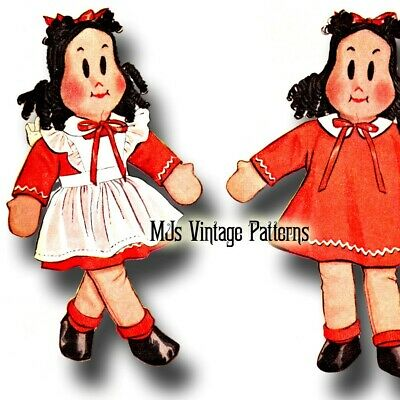 "Vintage 1940s Stuffed Clown Doll Toy Pattern ~ 17/"" tall"