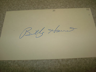 1968 Billy Harris Autograph Index card Rare 3X5 Signed Debut Season Auto