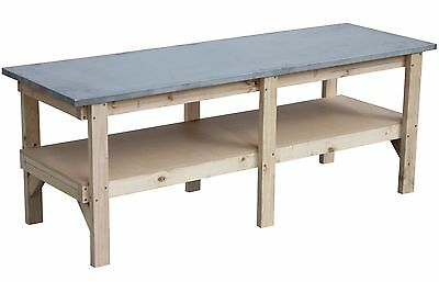 Work bench 2400 x 800 with steel laminated bench top