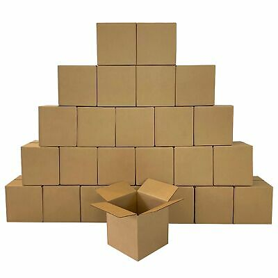 """25 - Corrugated Boxes 8 x 8 x 8"""" Cube - Shipping Mailing Box Cartons"""