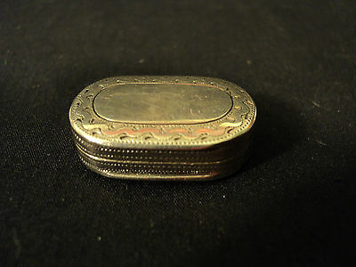 FABULOUS GEORGIAN ERA STERLING SILVER ENGRAVED MINIATURE VINAIGRETTE, c. 1807