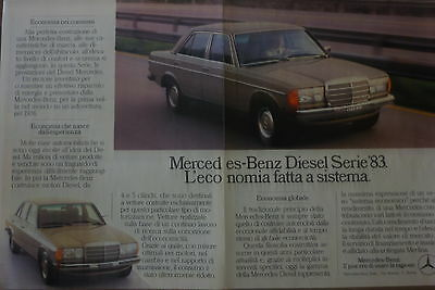 Advertising Pubblicita'  Mercedes-Benz Diesel Serie '83   - - 1983