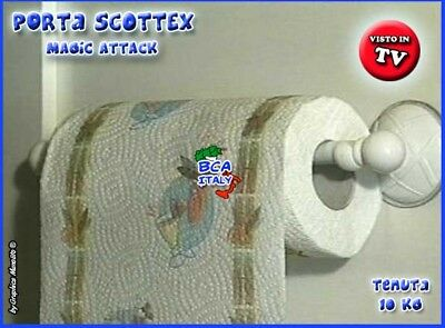 PORTA ROTOLO SCOTTEX a Ventosa Accessori Cucina Video